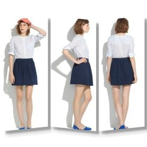 SALE Madewell Ponte Swivel navy blue skirt sz 8